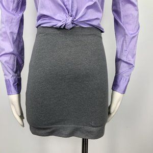 H&M X Small XS Grey Stretch Knit Pull On Skirt S33